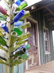 Bottle tree at the blues cabin