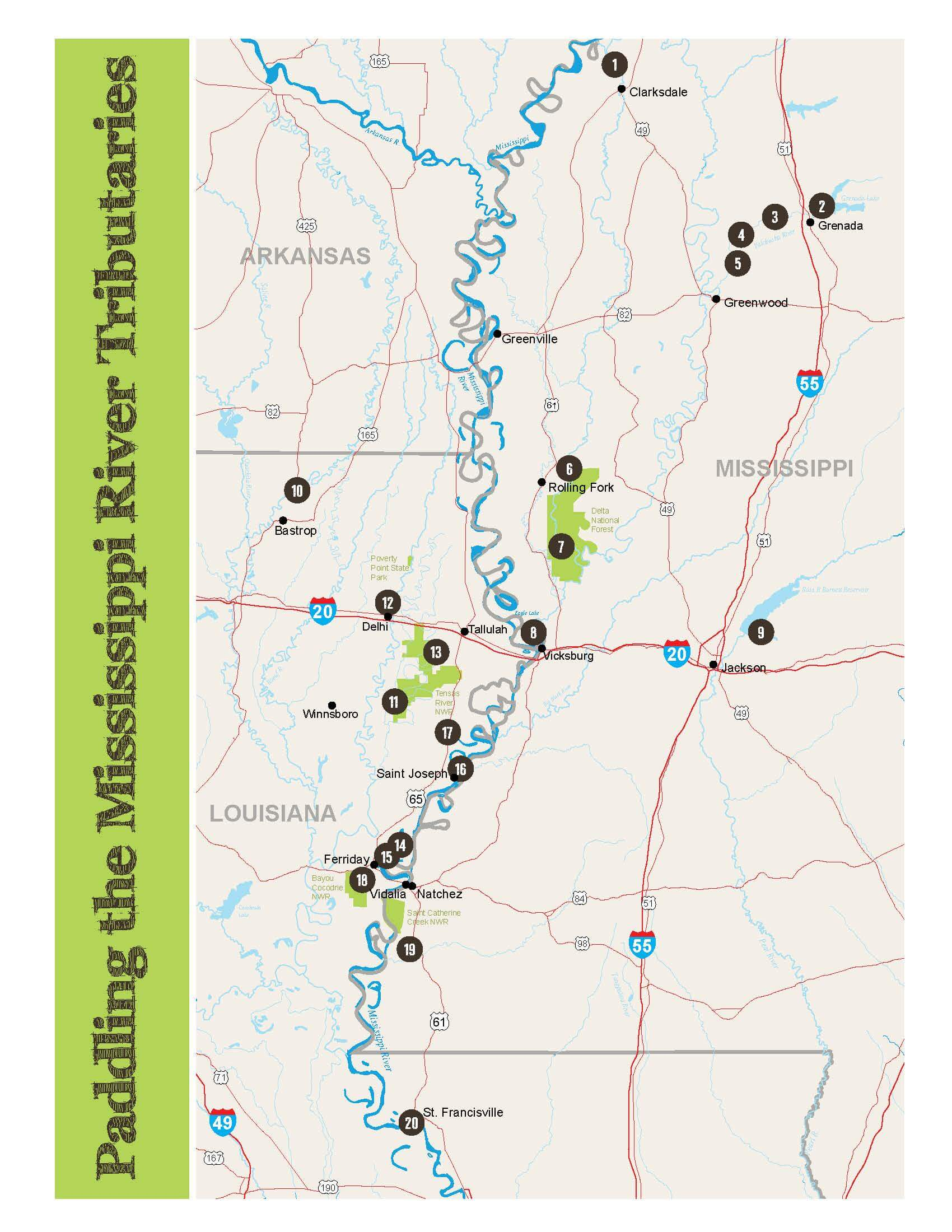 Paddling the Mississippi River Tributaries