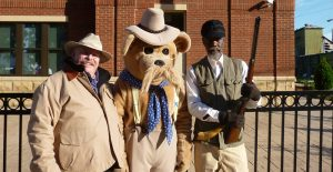 President Roosevelt and Holt Collier impersonator at the Great Delta Bear Affair in Rolling Fork, MS