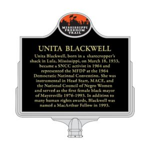 Unita Blackwell marker mock up