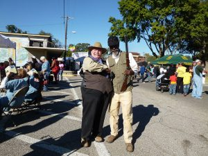 Reenactors portraying President Roosevelt and guide Holt Collier at the Great Delta Bear Affair