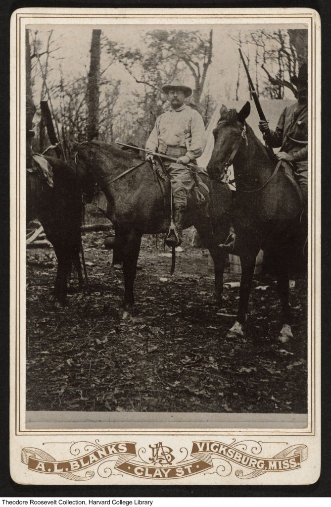 Theodore Roosevelt at the hunting camp
